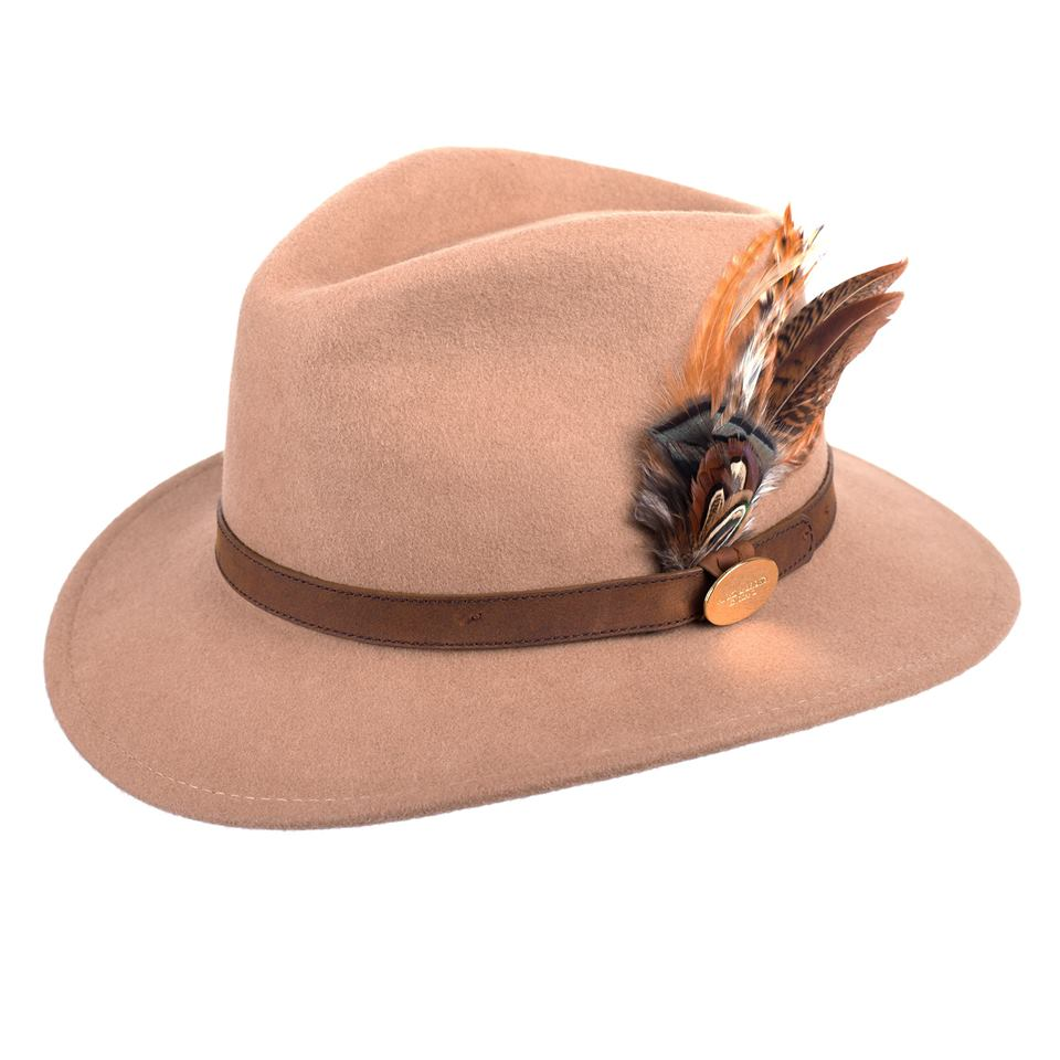Hicks and Brown Fedora Hat - Camel