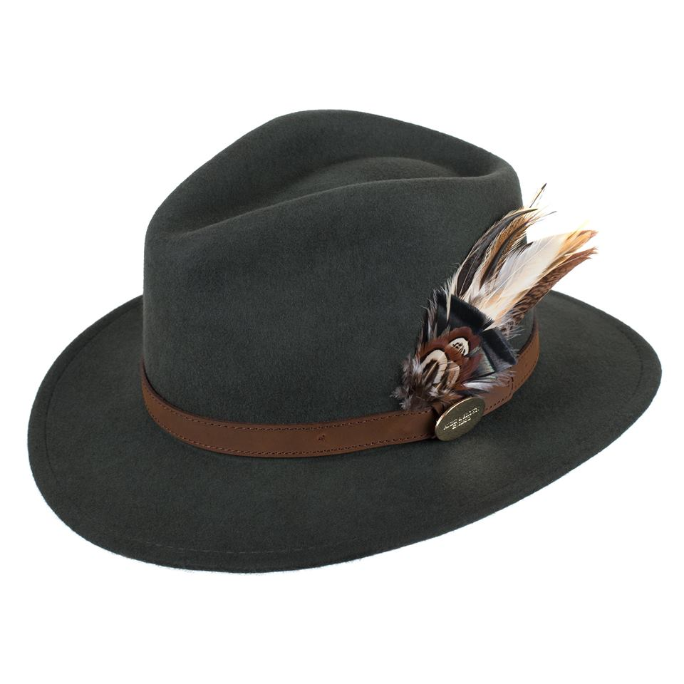 Hicks and Brown Fedora Hat - Olive