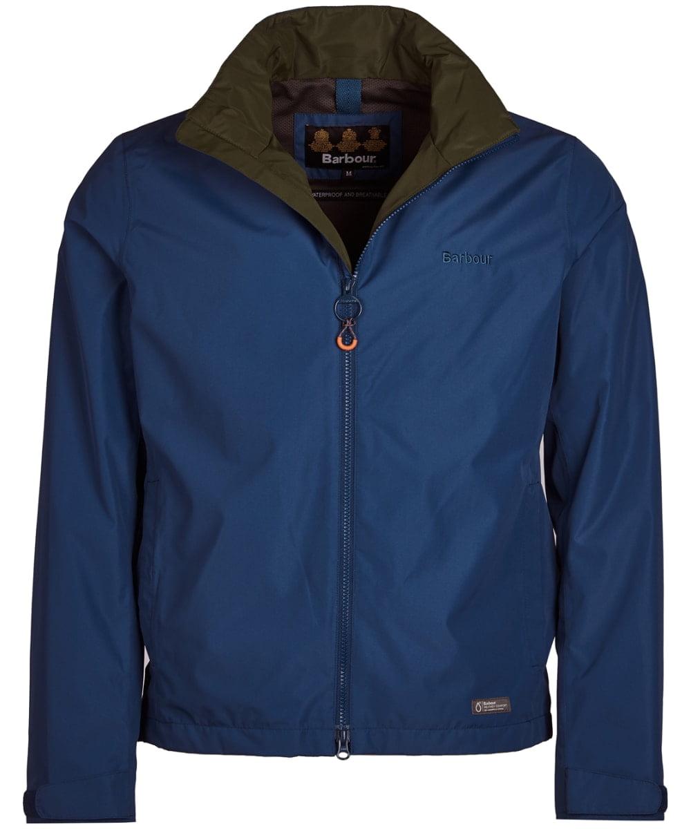 Mens Barbour Rye Jacket - Peacock blue