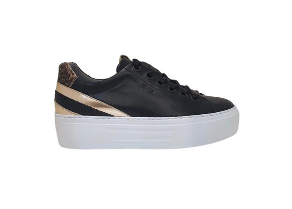 NeroGiardini Black Wedge Sneaker