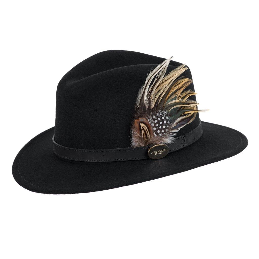 Hicks and Brown Fedora Hat - Black
