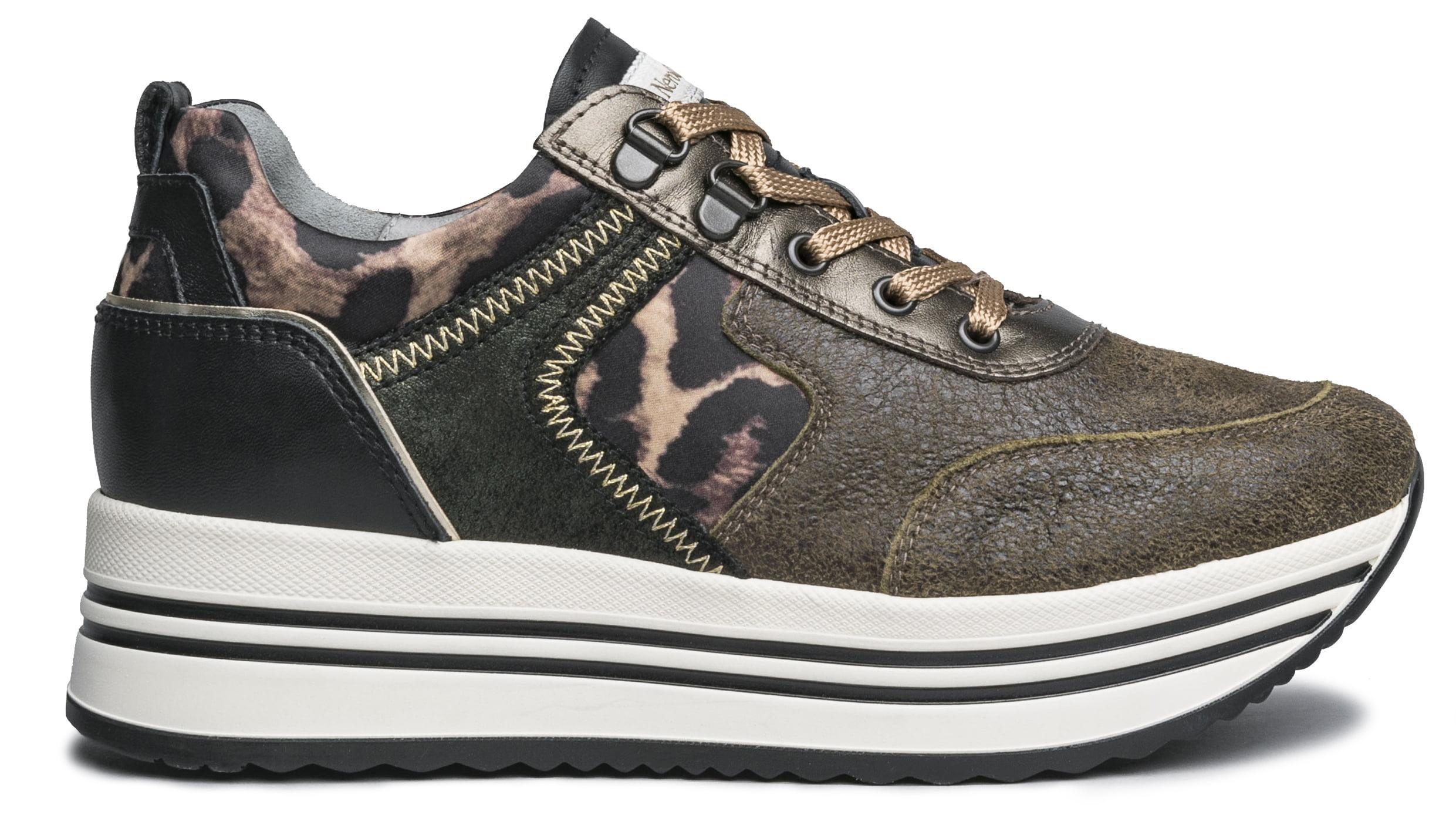 NeroGiardini Khaki Wedge Sneaker