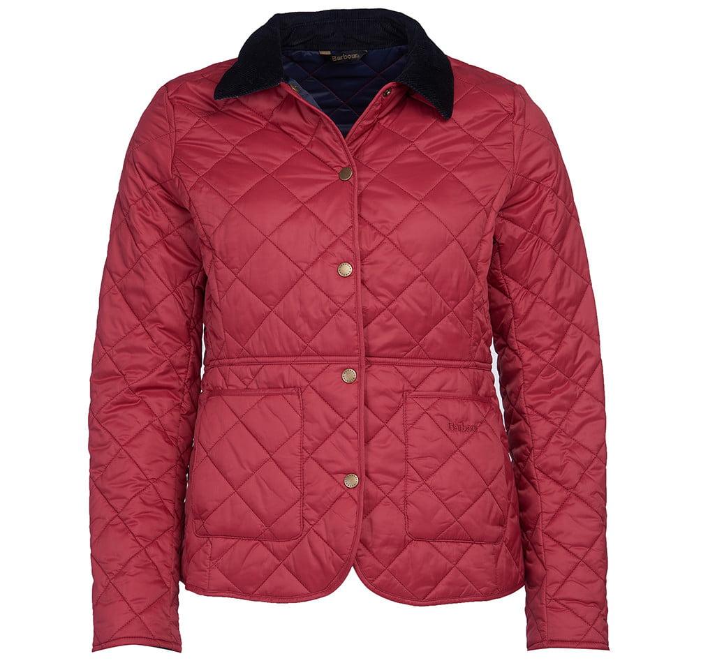 Barbour Deveron Quilted Jacket Deep Claret
