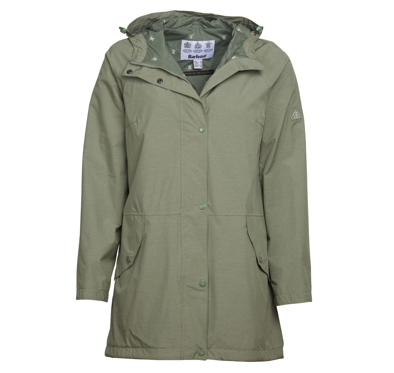 Barbour Shoreside Waterproof Jacket Green Marl