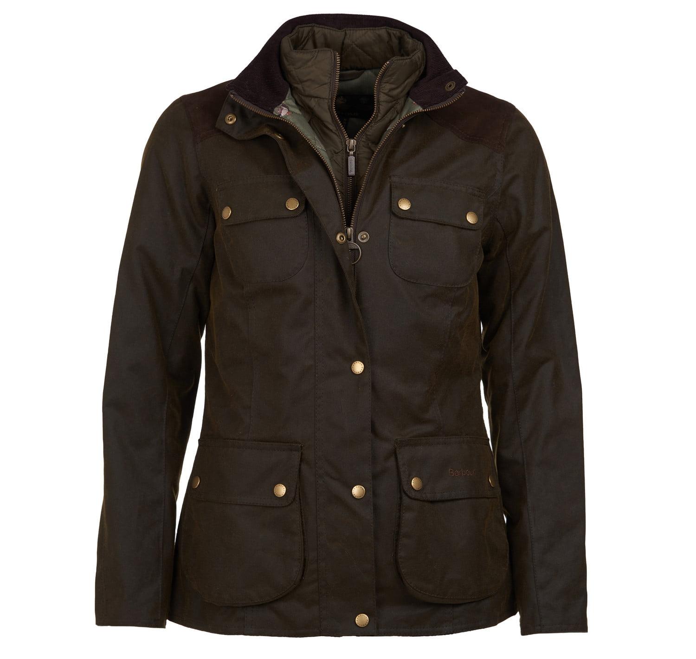 Barbour Dene Wax Jacket Olive