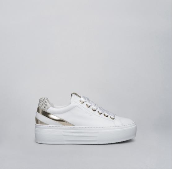 NeroGiardini White Wedge Sneaker