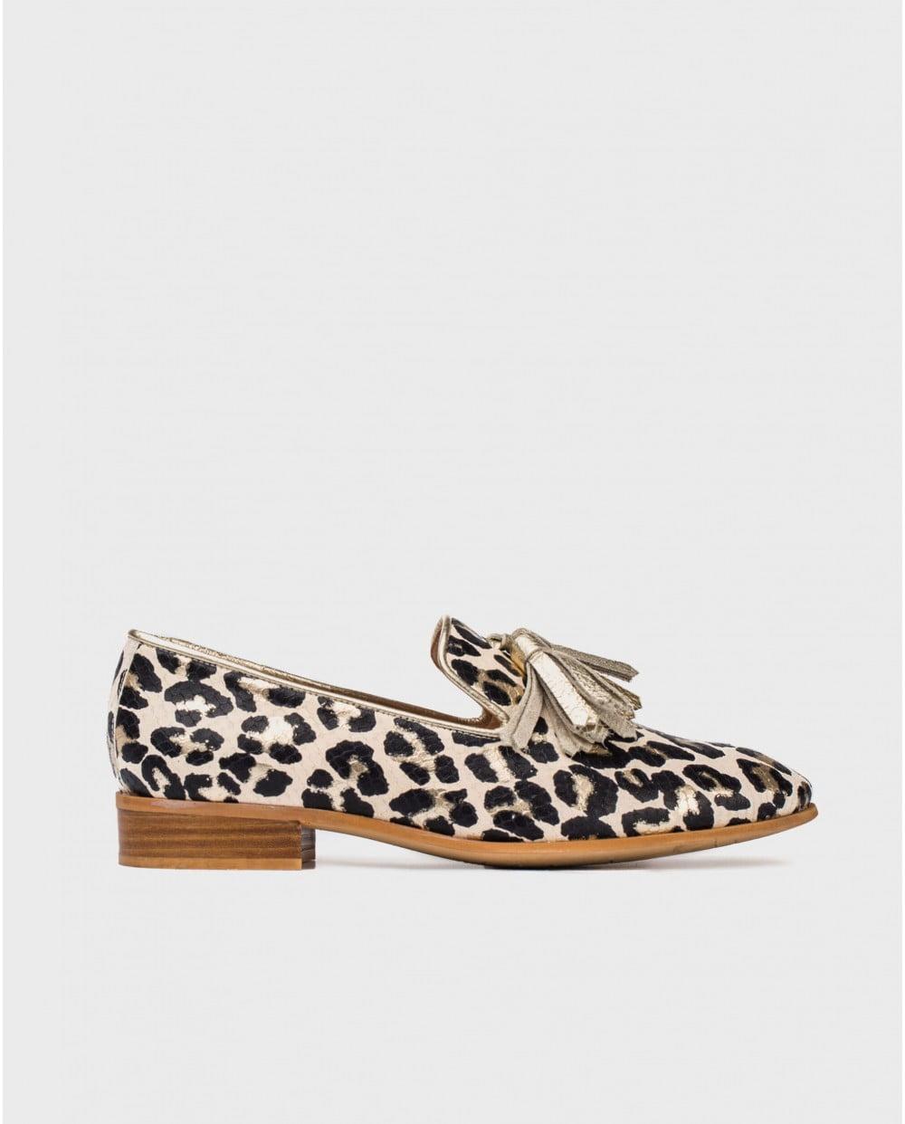 Wonders Leo Animal Print Loafer Shoe