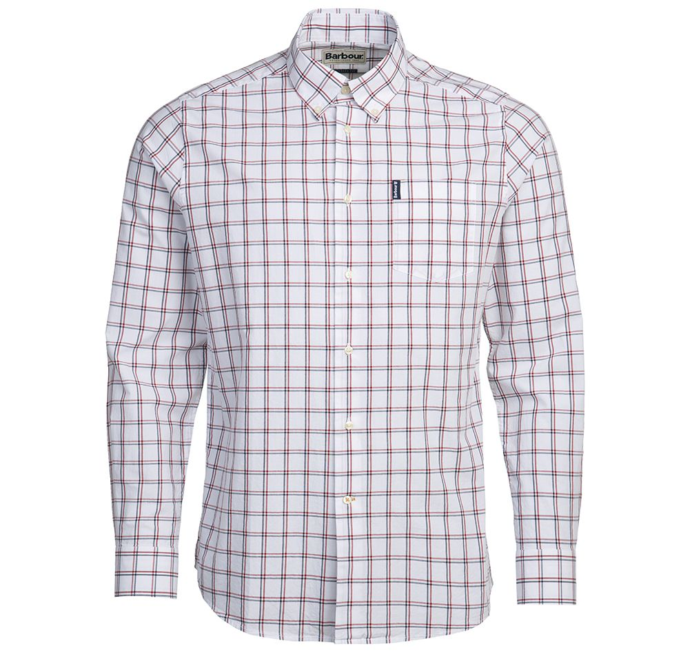 BARBOUR TATTERSALL SHIRT REDRE51_AW20_flat copy