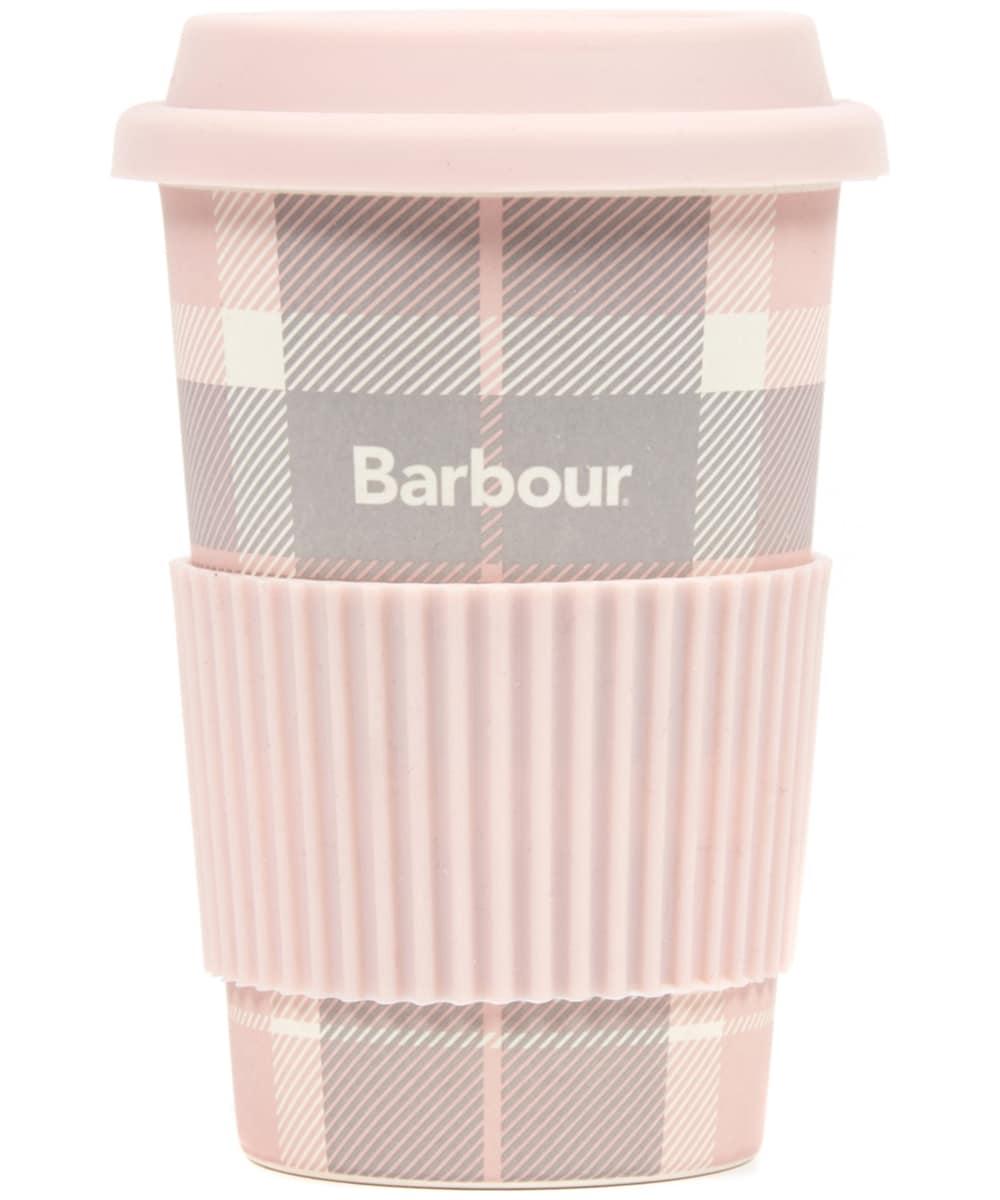 BARBOUR TRAVEL MUG PINK TARTAN9119