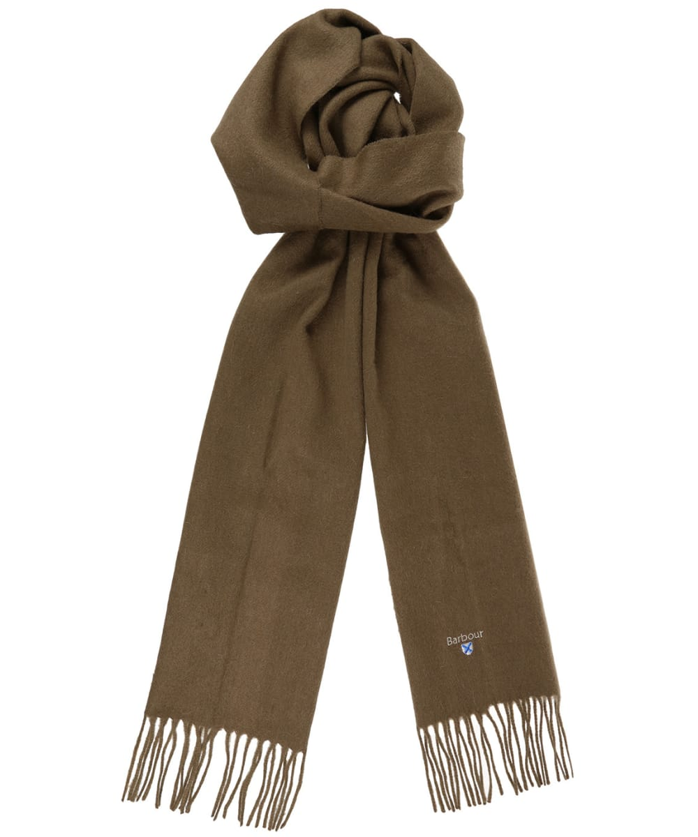 Barbour Plain Scarf Fossil41