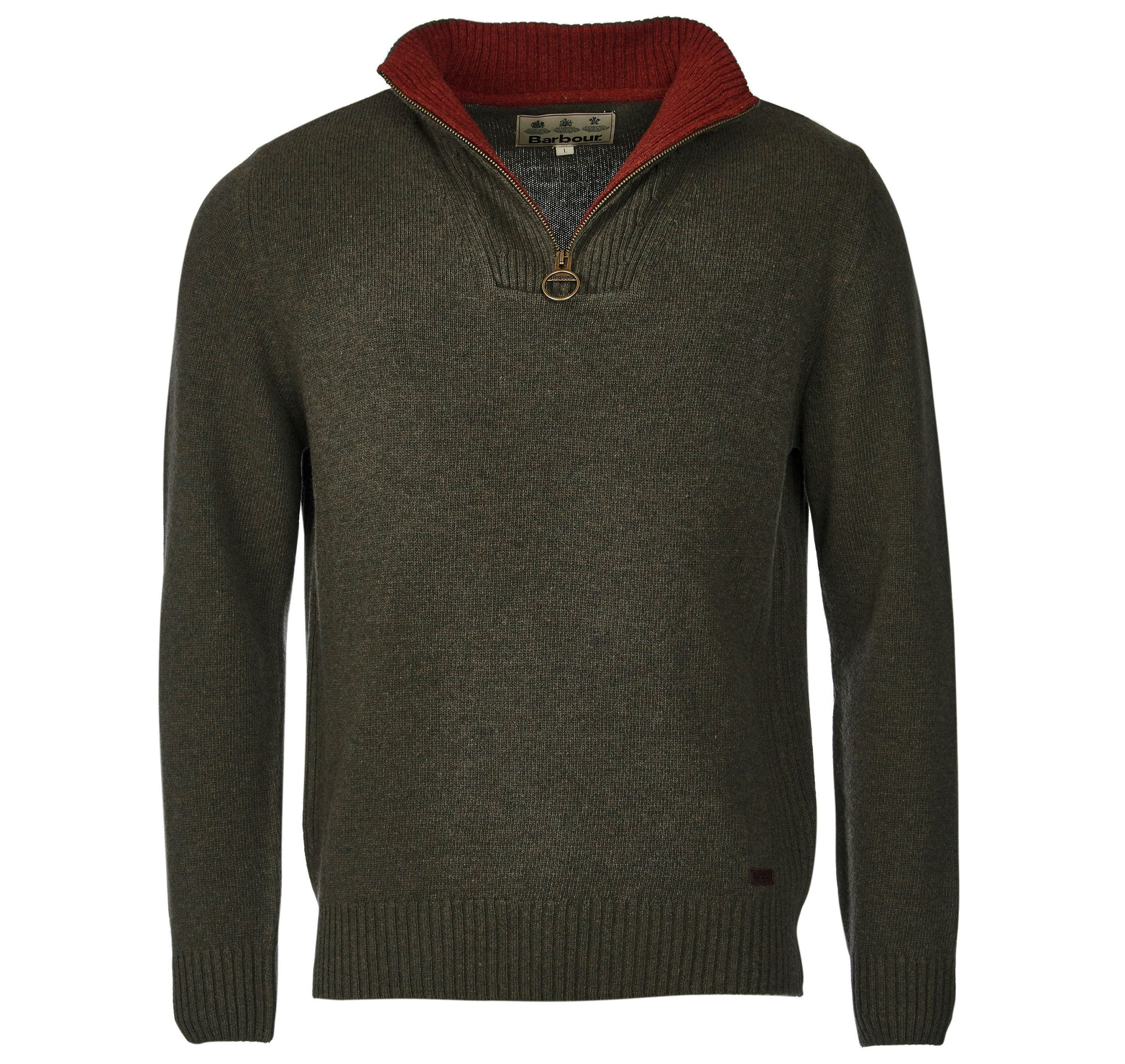 Barbour Nelson Essential Half Zip Jumper0863GN73_AW19_flat