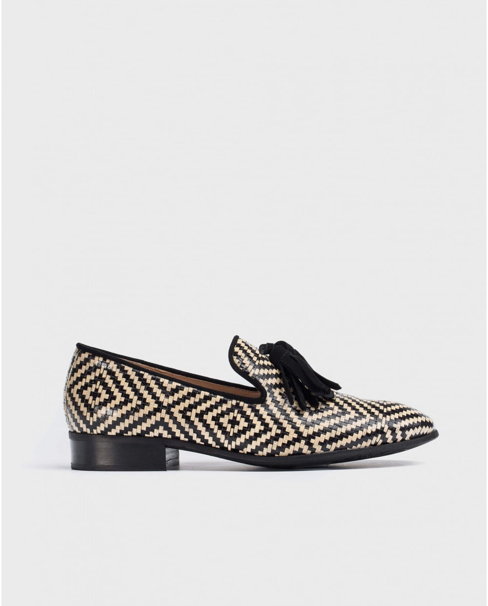 Wonders Braided Leather Moccasin