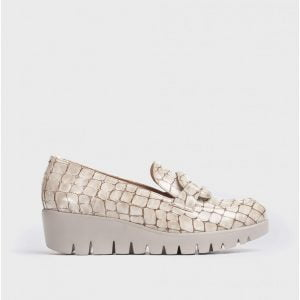 Wonders Embossed Leather Moccasin