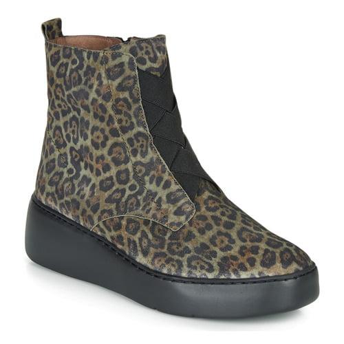 Wonders Wedge Leopard print Boot